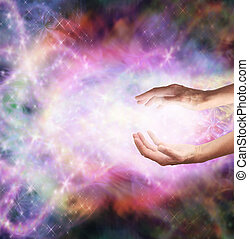 Magical Healing Energy - Healers hands outstretched sending...