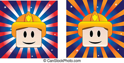 Firefighter Background with Stars and Stripe in american...