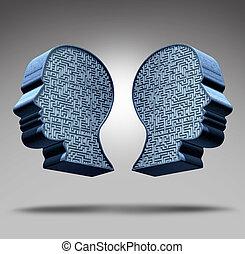 Bipolar Disorder - Bipolar disorder concept as a human head...
