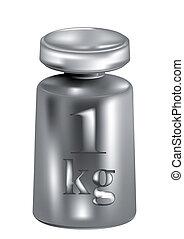 kilogram isolated on whote background. 10 EPS