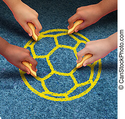Community Soccer - Community soccer concept as a group of...