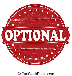 Optional - Stamp with word optional inside, vector...