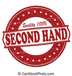 Second hand - Stamp with text second hand inside, vector...