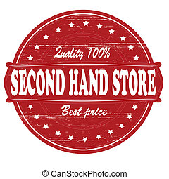 Second hand store - Stamp with text second hand store...