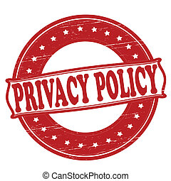 Privacy policy - Stamp with text privacy policy...