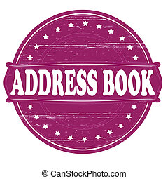 Address book - Stamp with text address book inside,vector...