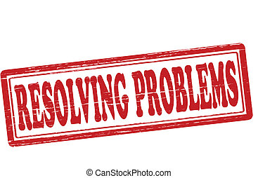 Resolving problems - Stamp with text resolving problems...