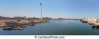 Sharjah - port - SHARJAH, UAE - OCTOBER 28: Sharjah - port,...