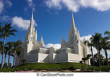 Mormon Temple - Beautiful Mormon temple in San...
