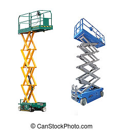 lifts - The image of scaffold and lift under the white...