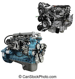 engine - The image of an engine under the white background