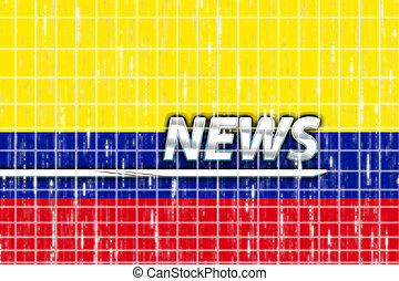 Flag of Colombia news - News information splash Flag of...