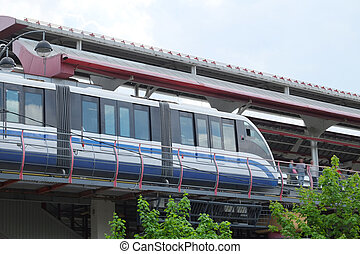 monorail railway - the image of a monorail railway