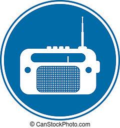Radio button on white background