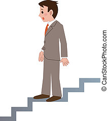 Businessman of depression - Vector illustration