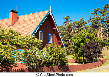 Traditional wooden architecture of Nida, Neringa, Lithuania