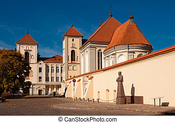 Kaunas Priest Seminary. Church of Holy Trinity in Kaunas is...