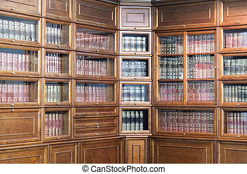 bookcase - the image of a bookcase