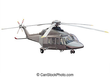 helicopter isolated under the white background