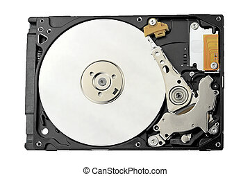 Harddisk isolated on white background