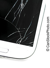 Broken screen smart phone