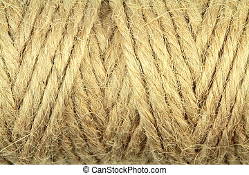 Natural rope close up image