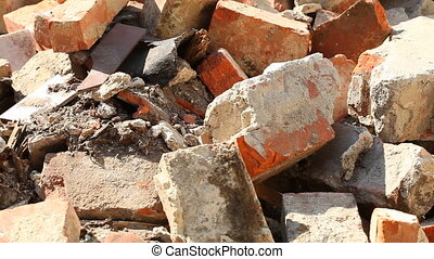 Old brick on construction site
