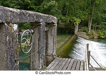 Water mill at the Blautopf