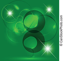 Abstract green background Illustration star