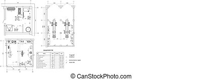 Drawing of vehicle fleet Vector format - Architectural...