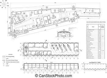 Drawing of vehicle fleet. Vector format - Architectural...