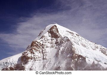 Eiger Mountain (Switzerland) - Eiger Mountain in Bern Alps...