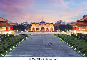 Libery Square at sunset. Taipei - Taiwan. - Libery Square...