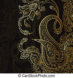 Paisley background. Hand Drawn ornament. Vector...