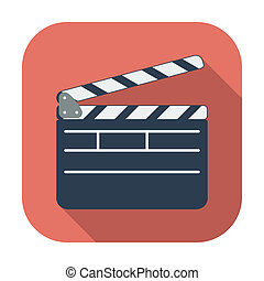 Director clapperboard icon. - Director clapperboard. Single...