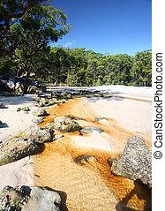 telégrafo, riacho, Austrália