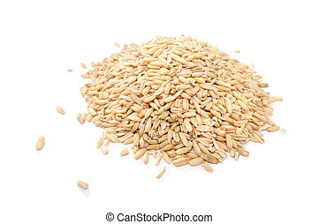 Whole Oats Isolated on White Background