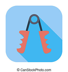 Hand expander icon. - Hand expander. Single flat color icon....