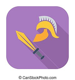 History icon - History Single flat color icon Vector...
