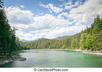 Eibsee Zugspitze - An image of the Eibsee and the Zugspitze...