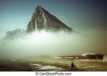 The Rock of Gibraltar. Abstract creative photo of Gibraltar...