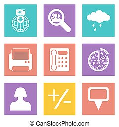 Color icons for Web Design set 49 - Color icons for Web...