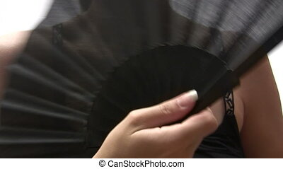 Woman with Fan - Canon HV30. HD 16:9 1920 x 1080 @ 25.00...