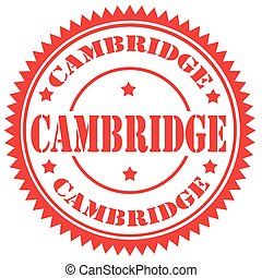 Cambridge-stamp - Rubber stamp with text Cambridge,vector...