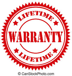 Warranty-stamp - Red rubber stamp with text Warranty,vector...