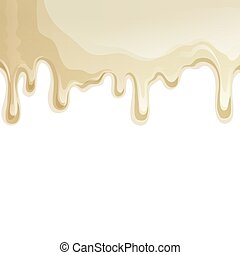 White chocolate drips background - Sweets dessert food white...