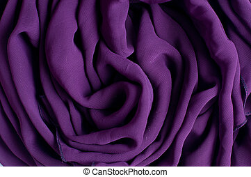 crumpled purple chiffon fabric - The texture of crumpled...