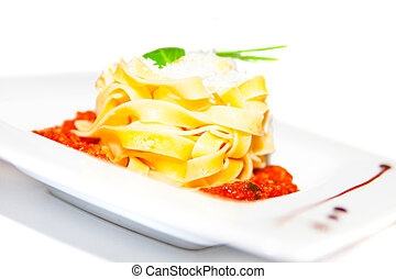 Pasta with bolognese - Pasta with meat tomato sauce...