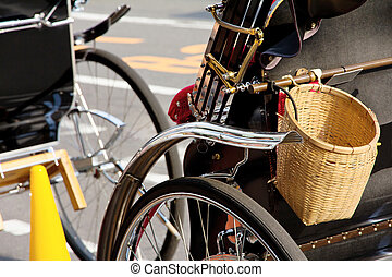 Detail of Rickshaw, Japan Traditional vehicle of japan