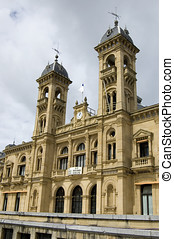san sebastian - city hall building - city hall building in...